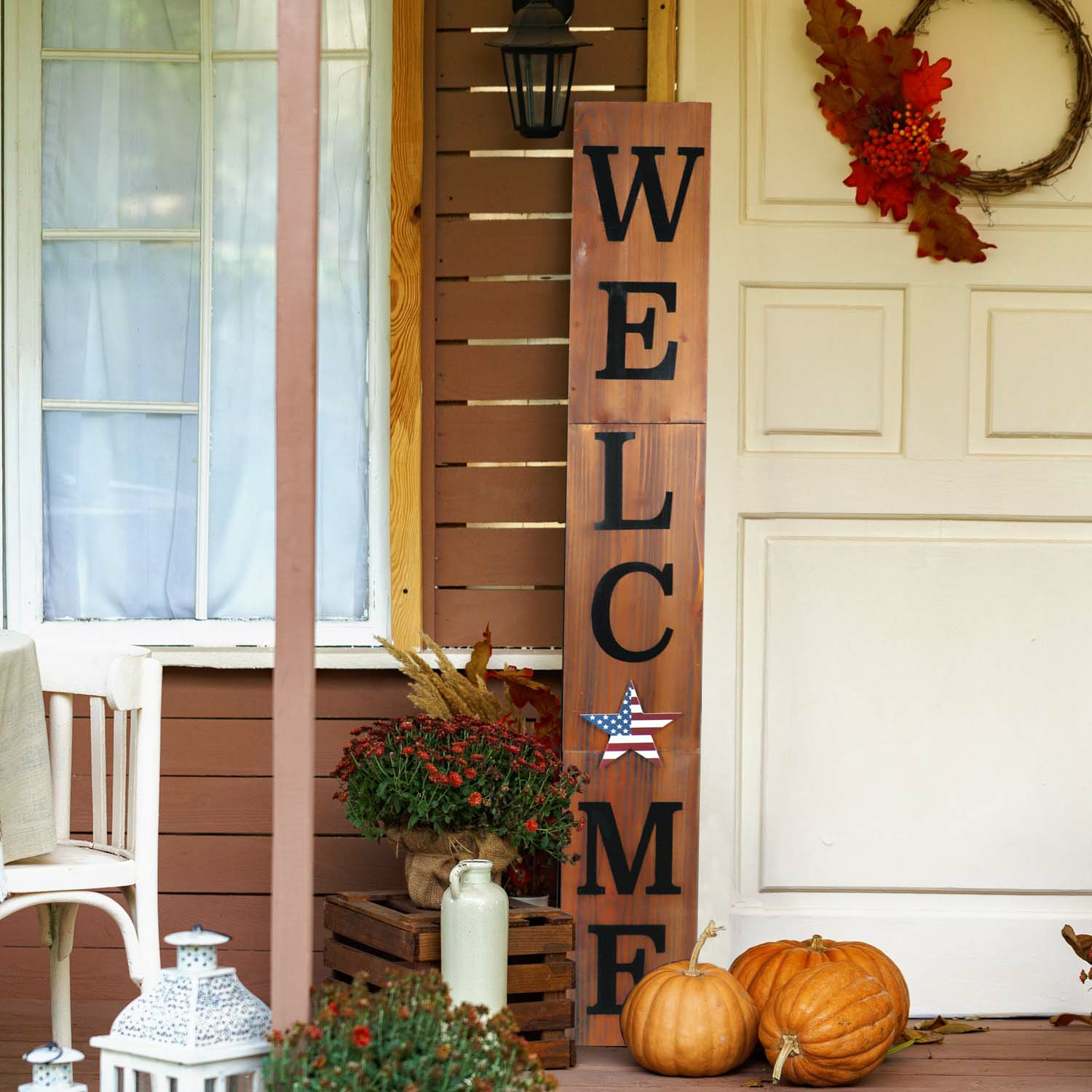 Seasonal Combo Interchangeable Welcome Porch Sign 9.5In