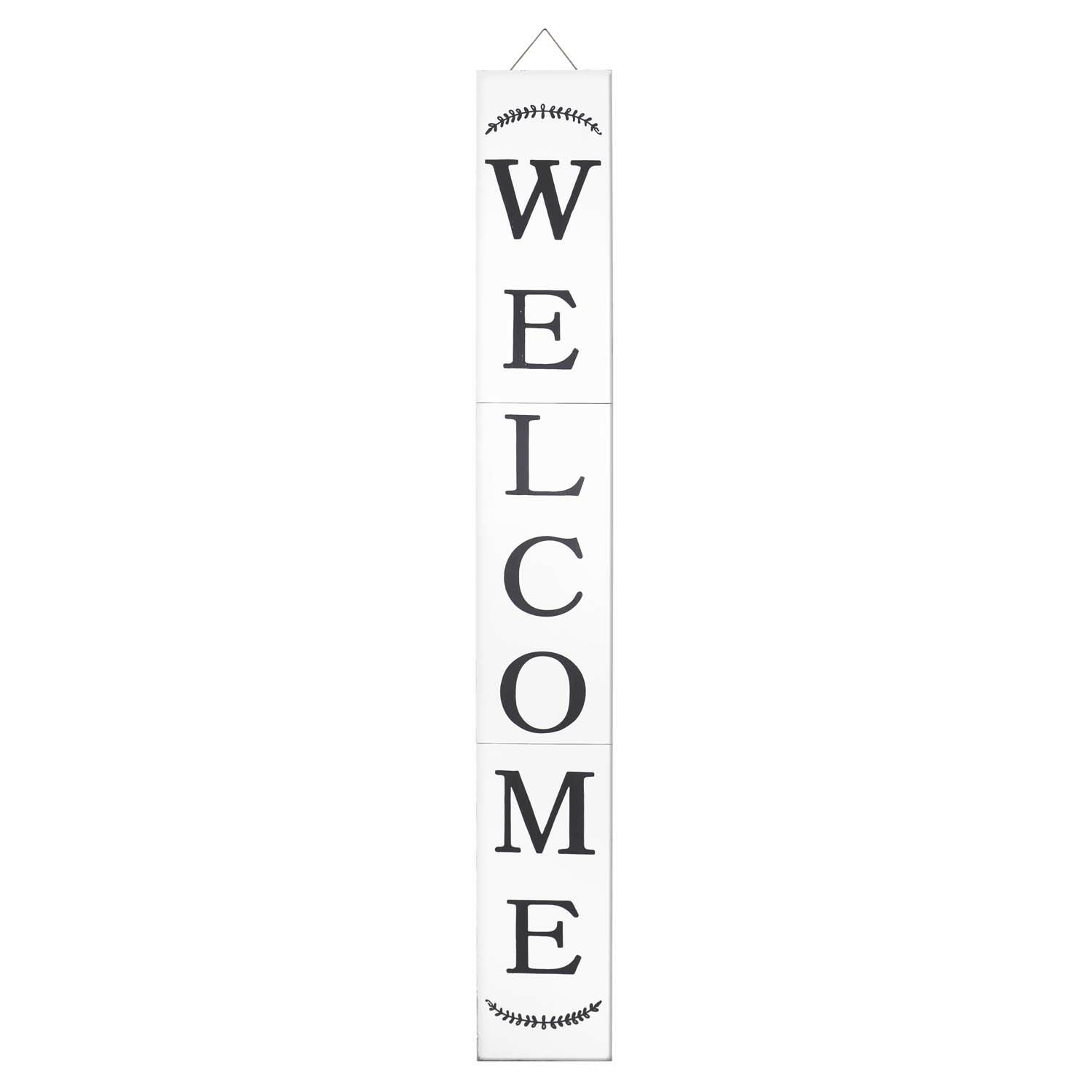 Modern Farmhouse Welcome Porch Sign 72In White