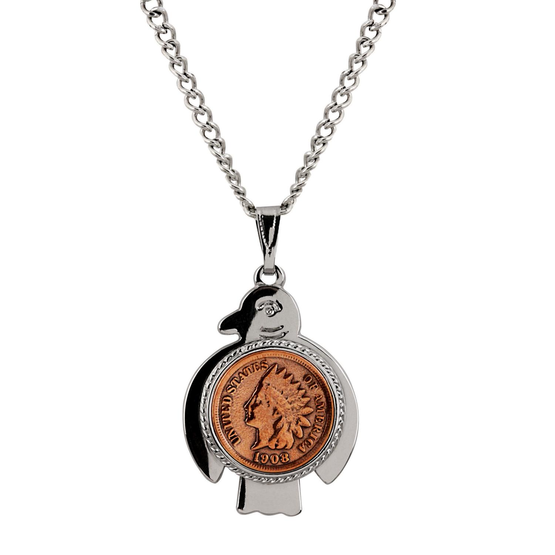 Thunderbird Indian Cent Coin Necklace