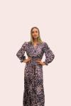 Amelia New York Purple Mist Maxi Long Sleeve Dress - 3