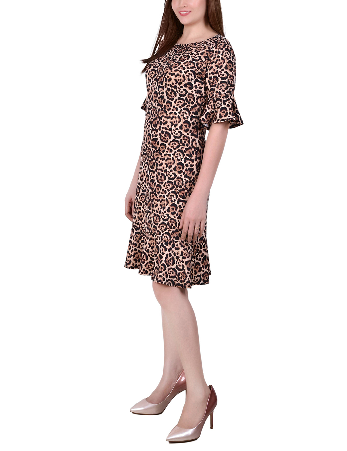 Ny Collection Petite Elbow Sleeve Knit Dress