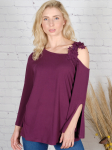 Wonder Blossom One Shoulder Lace Strap Night Out Top - 4