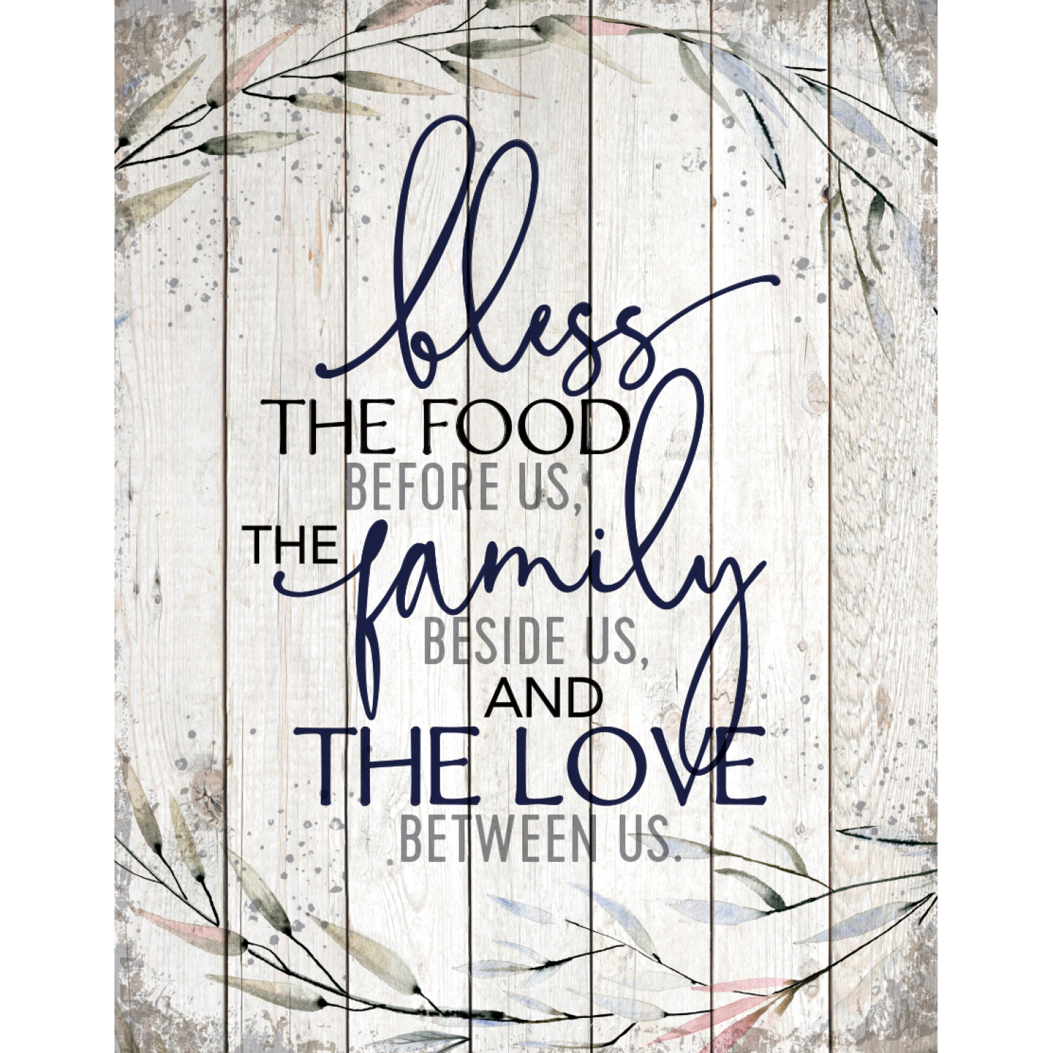 Bless The Food Wood Plaque 11.75 Inches X 15 Inches