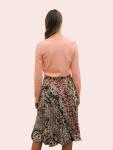 Amelia New York Pleated Animal Instincts Print Skirt - 2