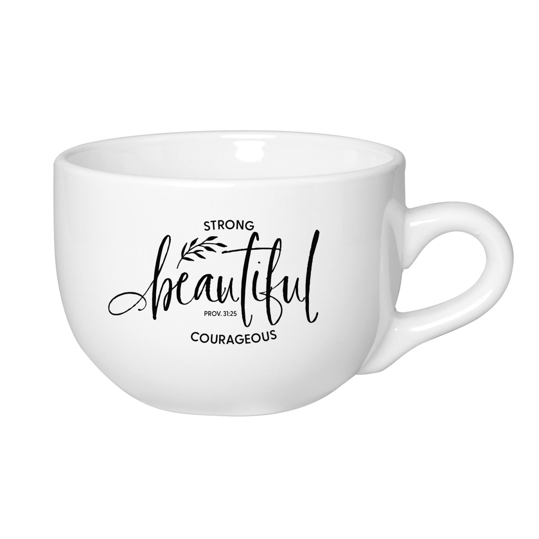Strong Beautiful Designer Ceramic Mug - 20 Ounce