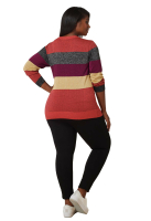 Maree Pour Toi Multi Lurex Striped Sweater - Back
