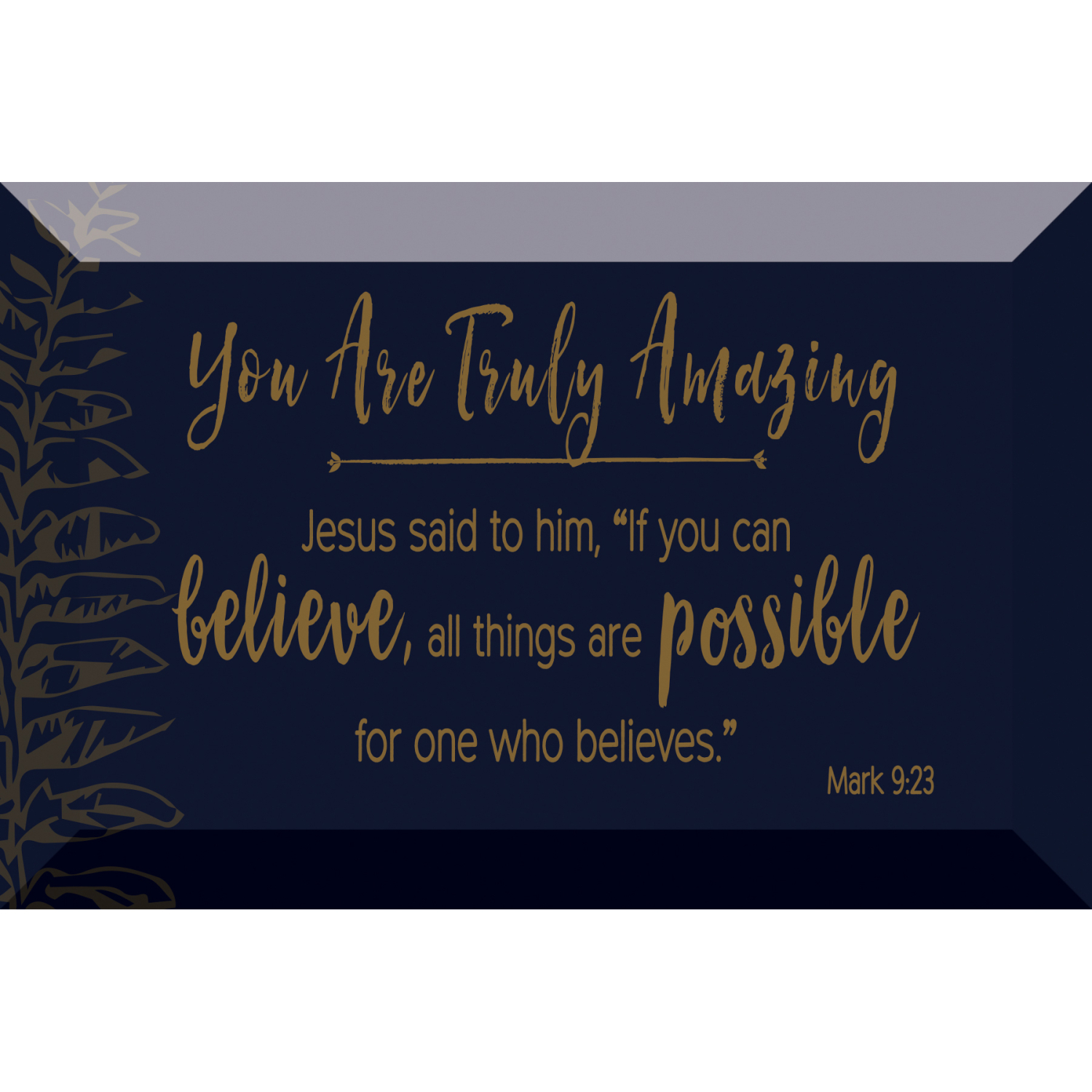 You Are Amazing Glass Plaque With Easel And Hanger 4 Inches X 6 Inches