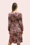 Amelia New York Long Sleeve Plum Print Dress - 2