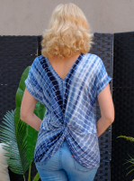 DB Sunday Tie Dye Reversible Knit Top - Back