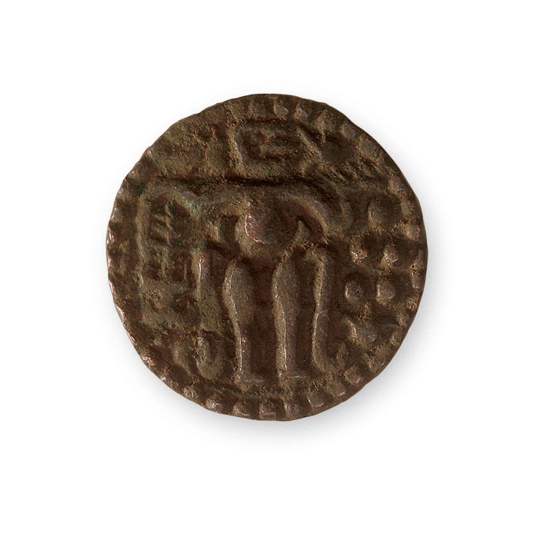 Ancient Bronze Chola Coin