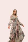 Amelia New York Handkerchief Long Sleeve Animal Print Dress - 2