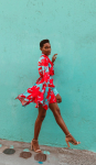 Sukiso Women's Coral Wave Elsa Dress - 4