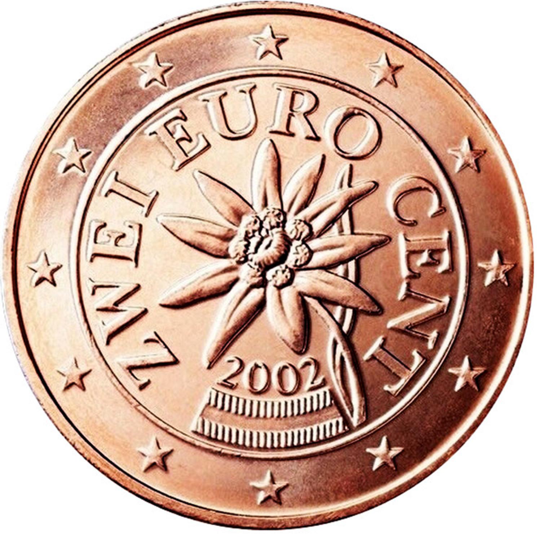 Austrian 2 Euro Coin Turquoise Money Clip