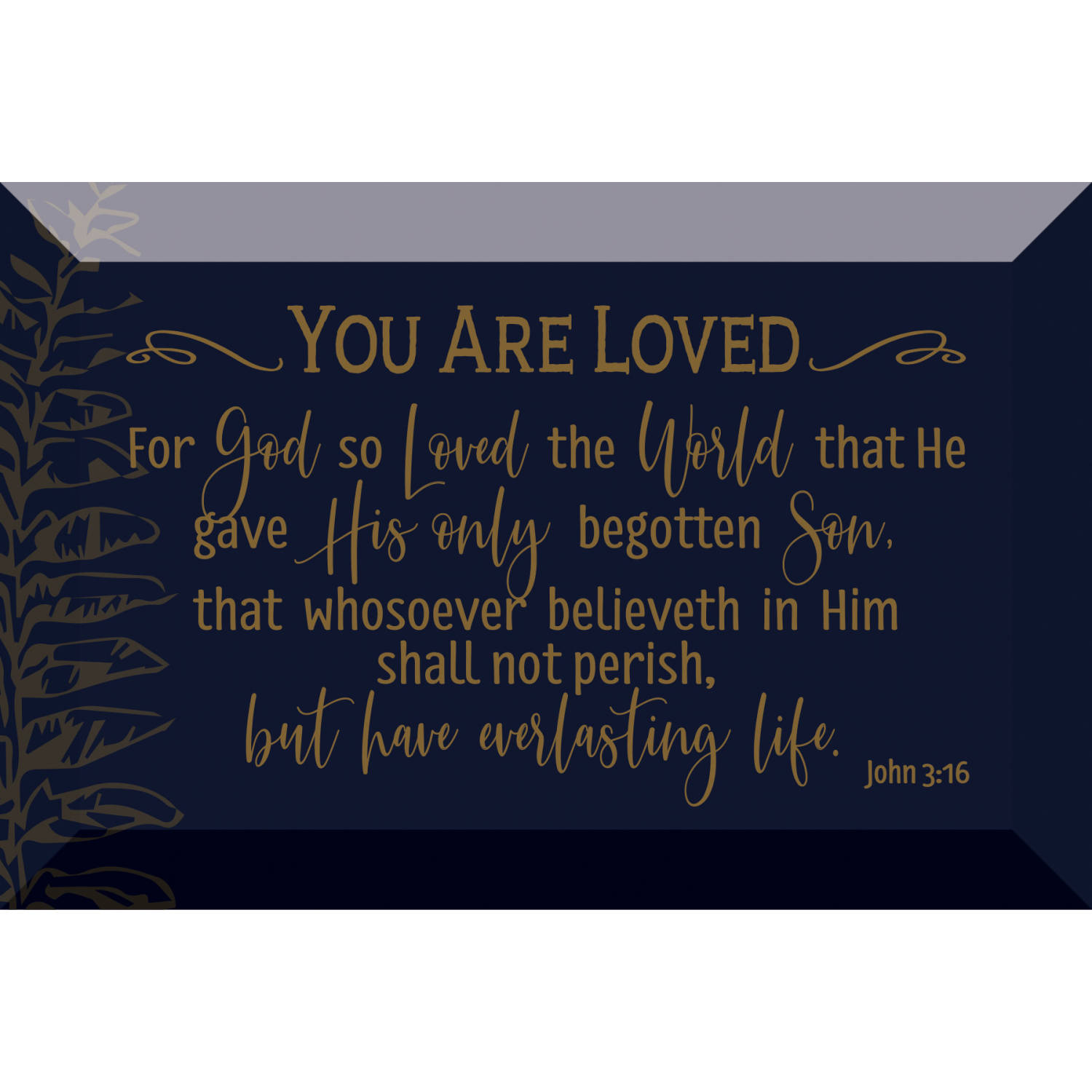 You Are Loved Glass Plaque With Easel And Hanger 4 Inches X 6 Inches
