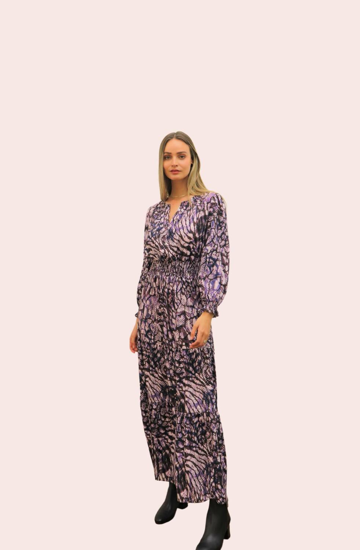 Amelia New York Purple Mist Maxi Long Sleeve Dress