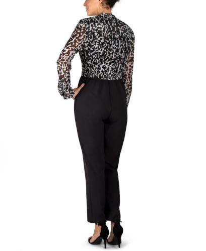 JJ Long Sleeve Printed Surplus Jumpsuit - Back