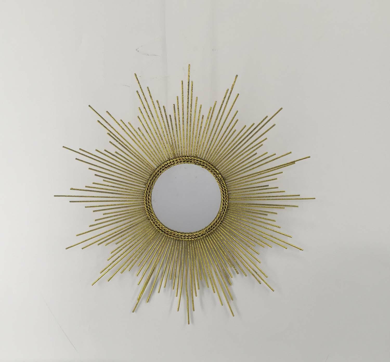 TX USA Corporation Petite Gold Burst Mirror