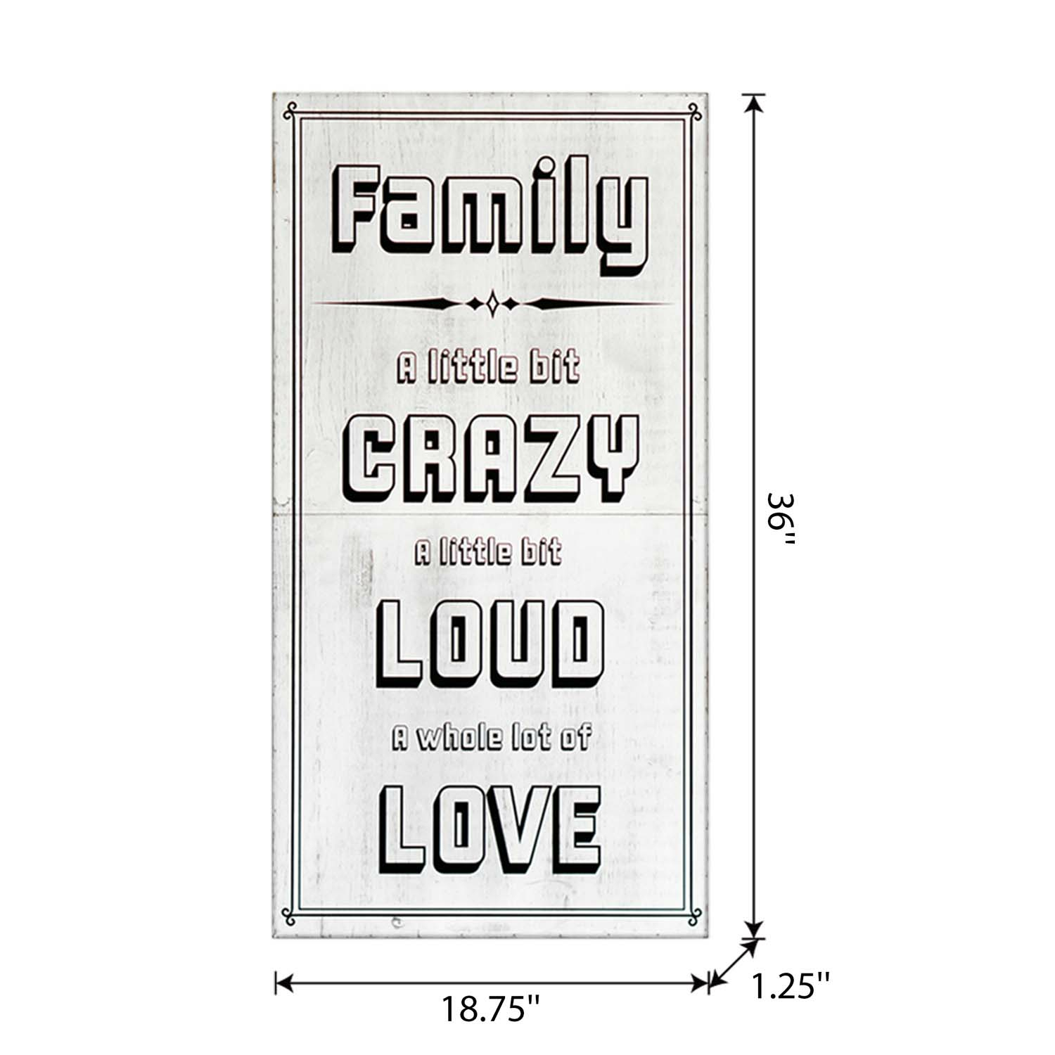 Craft Wood Easel Board 36In White Family-Crazy