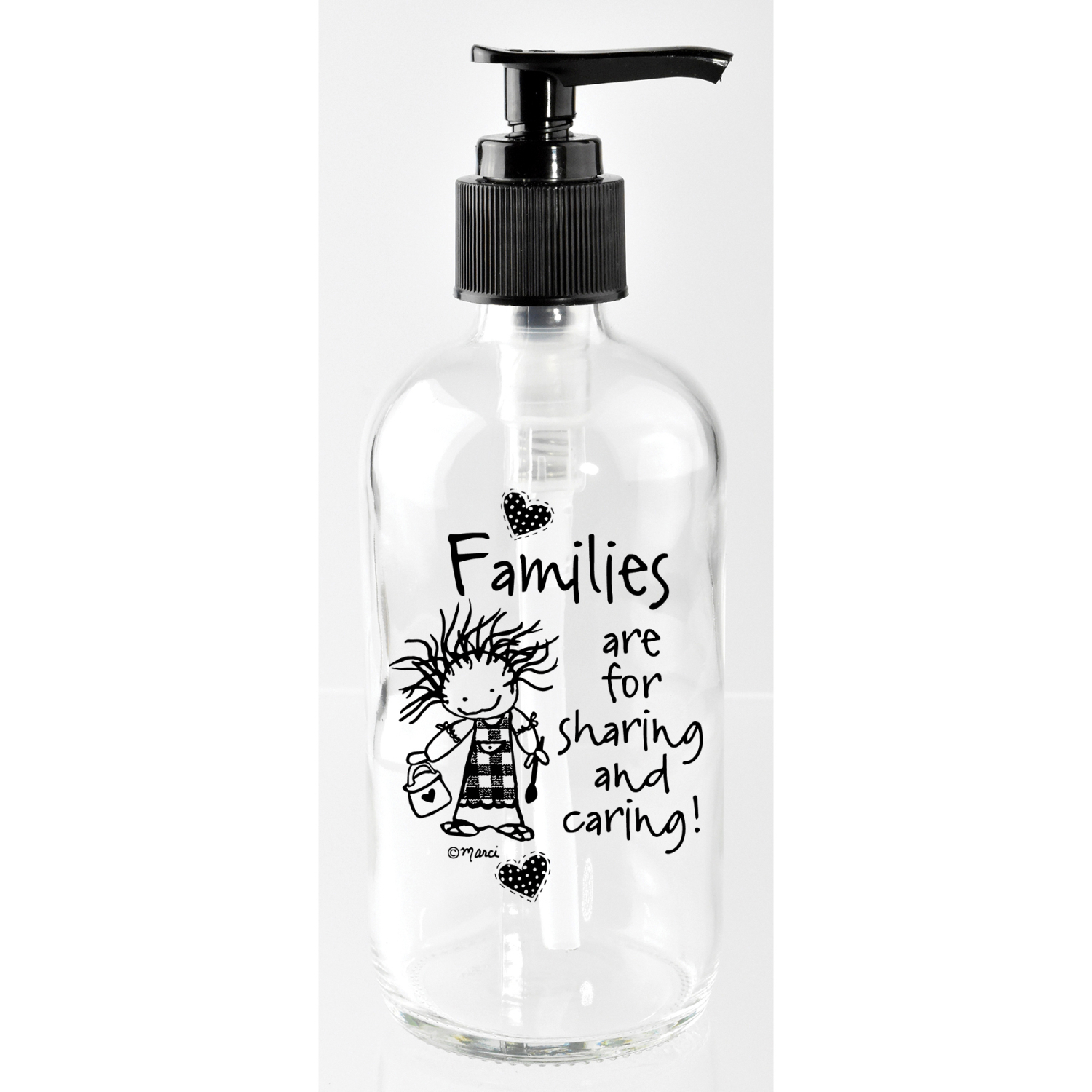 Families Are For Sharing 8Oz Soap Dispenser - Marci Art