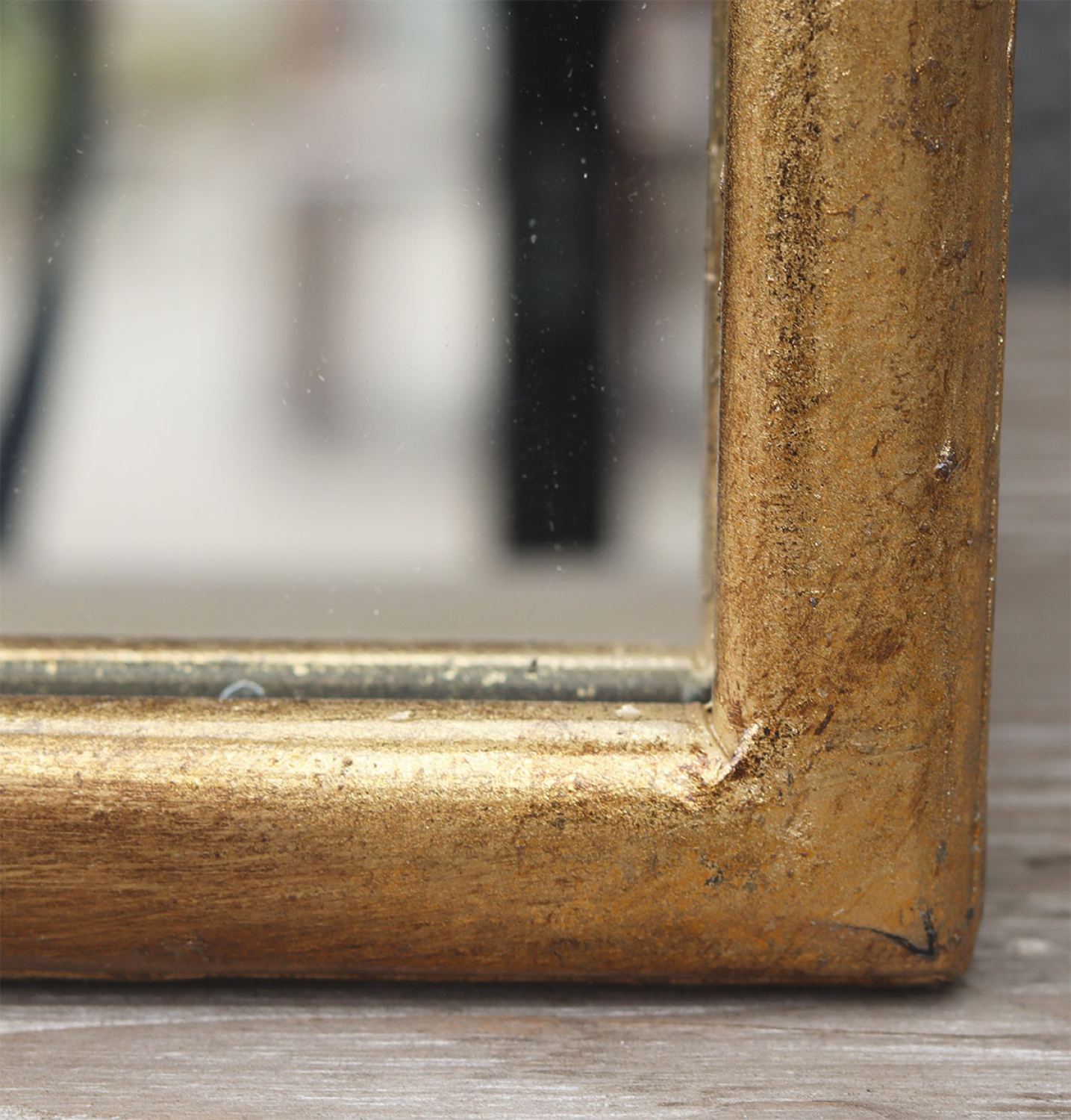 Paris Loft Full Length Body Mirror For Floor Or Wall - Arched Metal Frame - Slim Long Mirror For Leaning - Antiqued Gold Leaf Finish, 50
