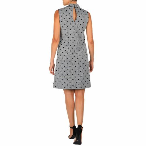 DR Mock Neck Sleeveless Dress With Pockets - Back